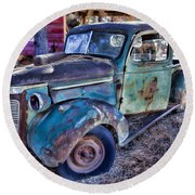 My Old Truck Round Beach Towel by Garry Gay