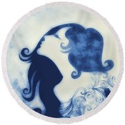 My Prince Will Come For Me 2 Round Beach Towel by Angelina Vick