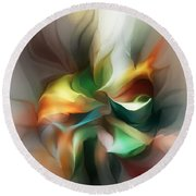 Mysterious Bloom Round Beach Towel