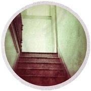Mysterious Stairway Round Beach Towel
