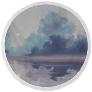 Mystic Moonlight Round Beach Towel
