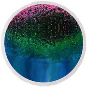 Mystical Island Round Beach Towel