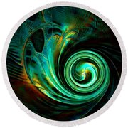 Mystical Spiral Round Beach Towel