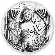 Mythology: Mermaid Round Beach Towel