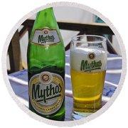 Mythos Beer Round Beach Towel