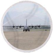 N Air Force C-130e Hercules Round Beach Towel