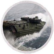 N Amphibious Assault Vehicle Departs Round Beach Towel