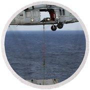 N Mh-60s Sea Hawk En Route Round Beach Towel