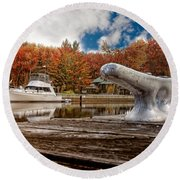 Napanee Harbour One Round Beach Towel
