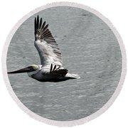 Naples Florida Pelican On The Prowl Round Beach Towel