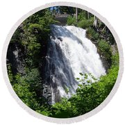 Narada Falls Through The Trees Round Beach Towel