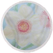 Narcissus Flower Round Beach Towel