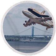 Nasa Enterprise Space Shuttle Round Beach Towel