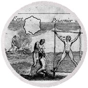 Natchez Punishment, C1725 Round Beach Towel