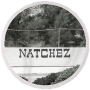 Natchez Round Beach Towel