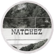 Natchez Round Beach Towel