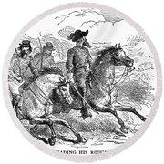 Nathan Bedford Forrest (1821-1877) Round Beach Towel