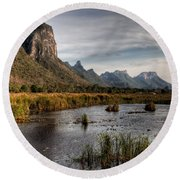 National Park Thailand Round Beach Towel