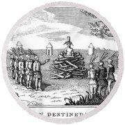 Native American Punishment Round Beach Towel