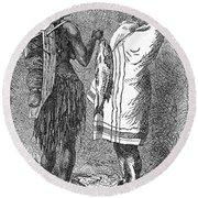 Native Americans: Flatheads Round Beach Towel
