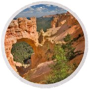 Natural Bridge In Bryce Canyon National Park Round Beach Towel