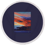 Natural Light Round Beach Towel by Catherine Twomey