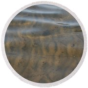 Natural Lines Round Beach Towel