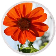 Floral Silhouette Round Beach Towel