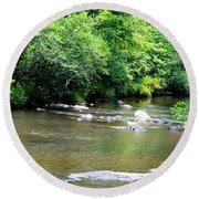 Natural Spring Water Round Beach Towel