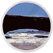 Natural Stone Bridge - Aruba Round Beach Towel