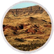 Naturally Painted Hills Round Beach Towel