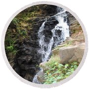 Nature Falls Round Beach Towel