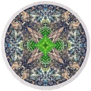Nature Mandala Round Beach Towel