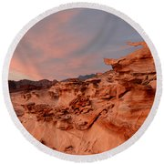 Natures Artistry At Little Finland Round Beach Towel
