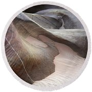 Nature's Artistry In Stone Round Beach Towel by Bob Christopher
