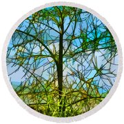Nature's Church Windows  Round Beach Towel