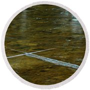 Natures Ice Cross Michigan Round Beach Towel
