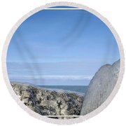 Natures Ice Sculptures 10 Round Beach Towel