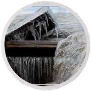 Natures Ice Sculptures 5 Round Beach Towel