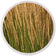 Nature's Own Gold Round Beach Towel