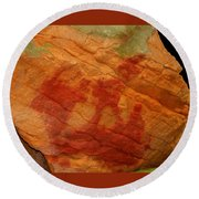 Nature's Palette In Stone Round Beach Towel