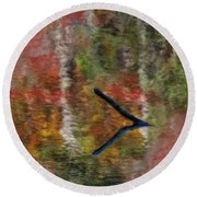 Nature's Reflections Round Beach Towel