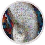 Nautilus Shell Mosaic Round Beach Towel