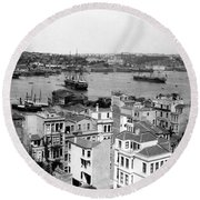 Naval Arsenal And The Golden Horn - Ottoman Empire - Turkey Round Beach Towel