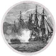 Naval Battle, 1813 Round Beach Towel