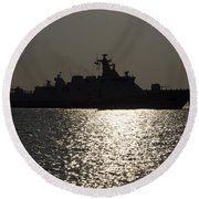 Naval Joint Operations V7 Round Beach Towel