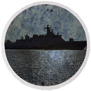 Naval Joint Ops V3 Round Beach Towel