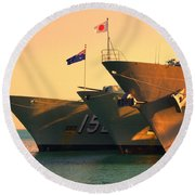 Naval Joint Ops V4 Round Beach Towel
