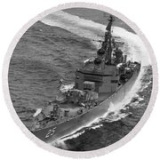 Navy: Uss Bainbridge, 1968 Round Beach Towel