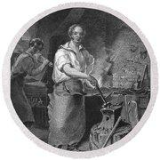 Neagle: Blacksmith, 1829 Round Beach Towel